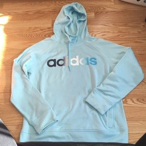 Adidas baby blue hoodie.  Size L